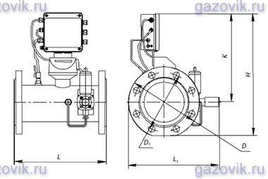 Вариант исполнения комплекса сг эк со счетчиком газа СГ(Т1) и ТRZ(Т2) СГ-ЭКВз-Т1-100, СГ-ЭКВз-Т1-250, СГ-ЭКВз-Т1-400...