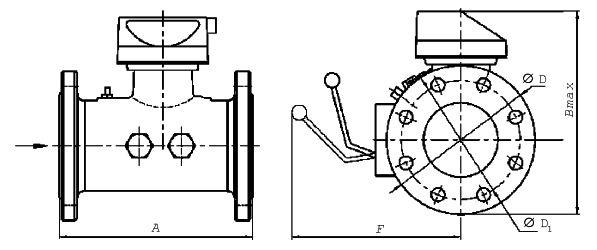 Турбинные счетчики газа TRZ (G65-G4000) схема.