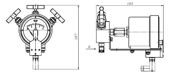 Дифманометр стрелочный показывающий ДСП-80-РАСКО.