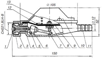Схема регулятора давления газа РДСГ 1-1,2.